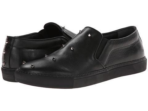 Alexander McQueen - Studded Slip On Sneaker (Black/Black) Men's Shoes