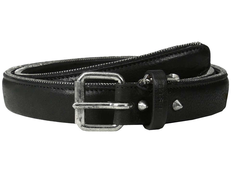 Diesel - Bordizip Belt (Black) Men's Belts
