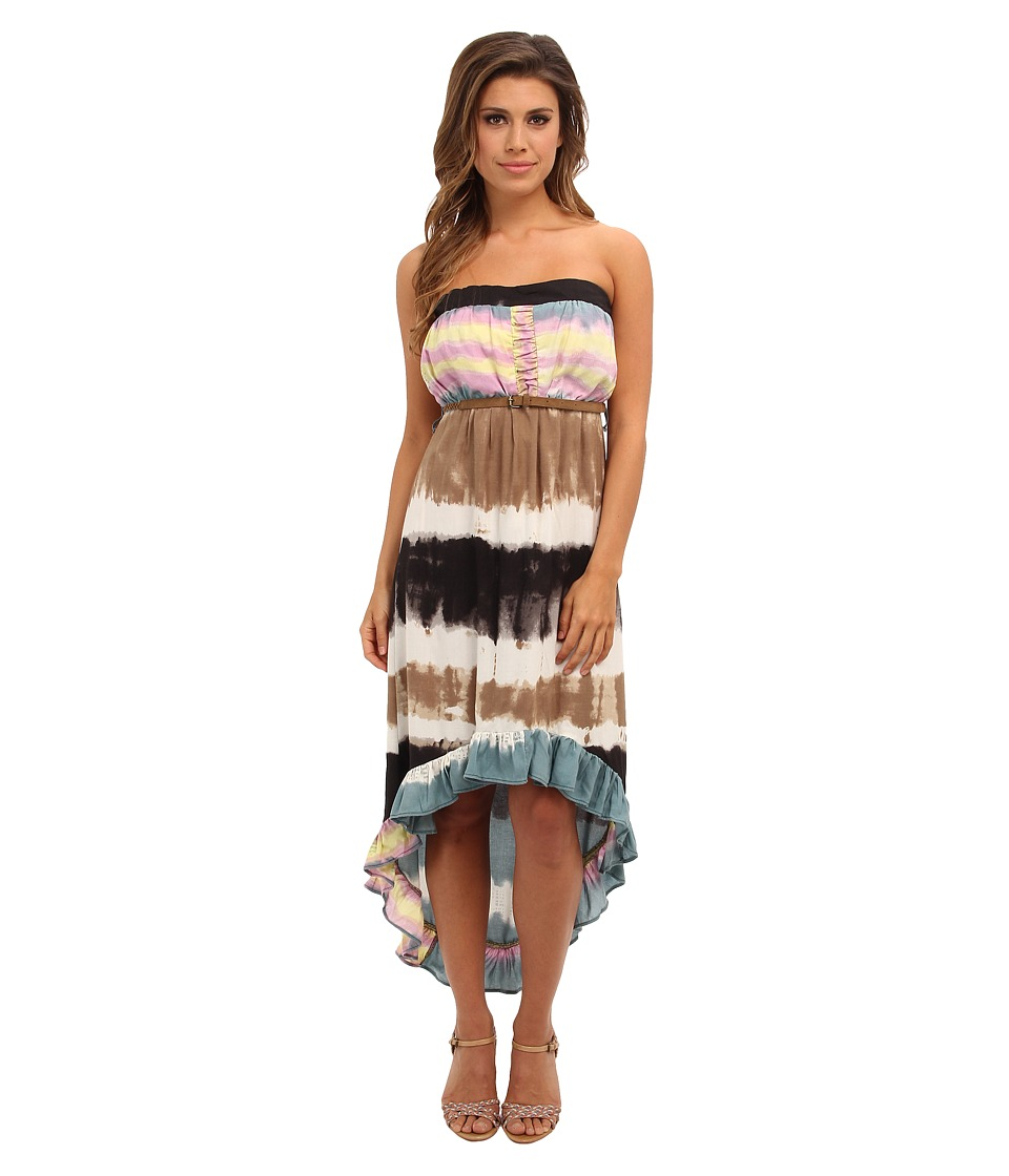 Angie - Tie-Dye Print Maxi Tube Dress (Blue) Women's Dress