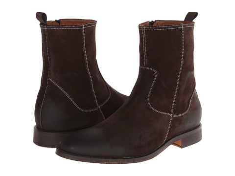 Massimo Matteo - Side Zip High Boot (Chocolate Brown) Men