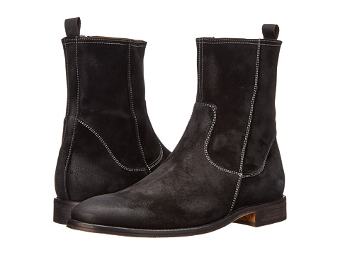 Massimo Matteo - Side Zip High Boot (Black) Men's Zip Boots