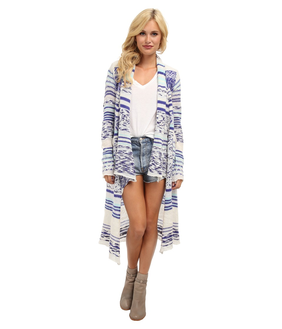 Brigitte Bailey - Comfort Zone Stripe Cardigan (Blue Dream) Women
