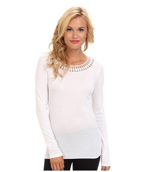 Hanro - Brooklyn L/S Shirt (White) Women