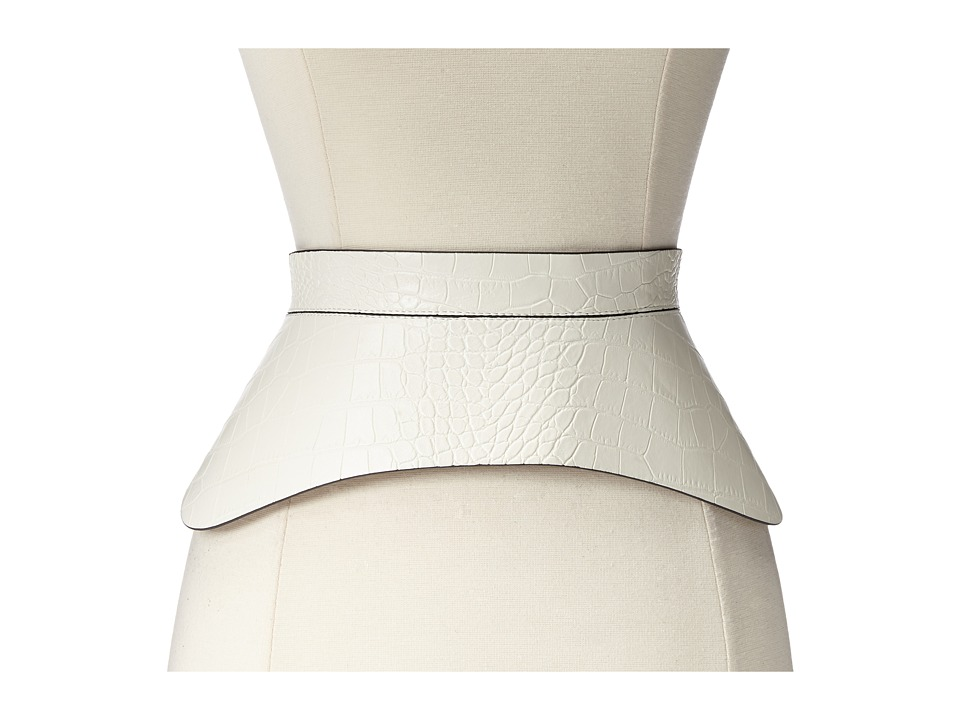 BCBGMAXAZRIA - Zip Corset Waist Belt (White) Women's Belts