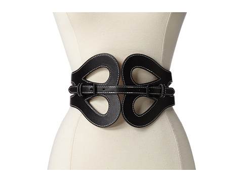 BCBGMAXAZRIA - PU Waist Belt (Black) Women's Belts