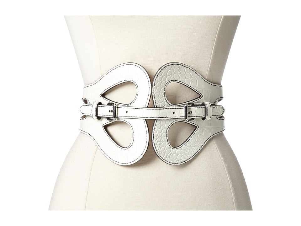 BCBGMAXAZRIA - PU Waist Belt (White) Women's Belts