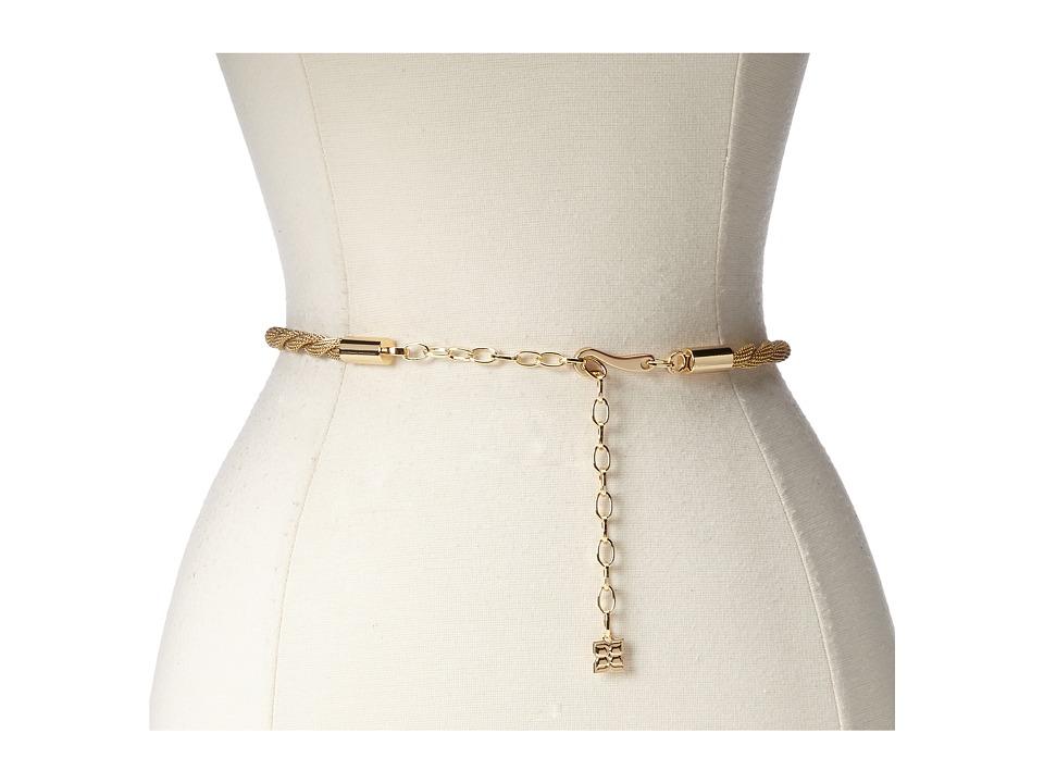 BCBGMAXAZRIA - Twisted Chain Waist Belt (Gold) Women