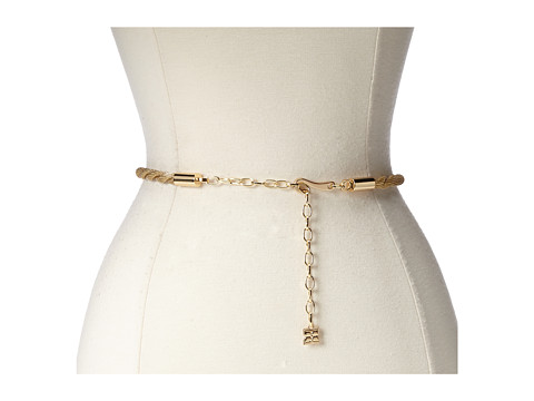 BCBGMAXAZRIA - Twisted Chain Waist Belt (Gold) Women