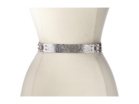 BCBGMAXAZRIA - Hammered Hinge Waist Belt (White) Women