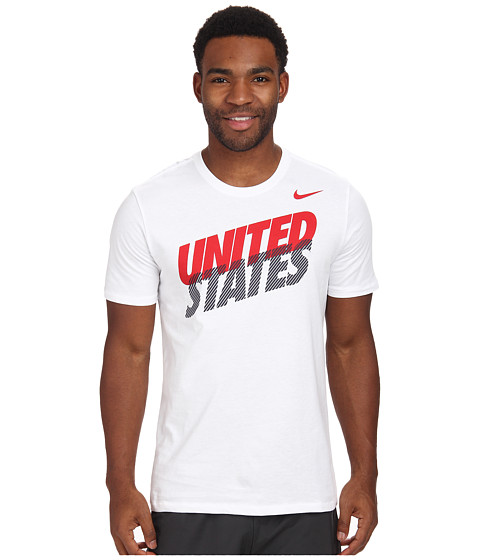 Nike - USA Core Type S/S Tee (White/White) Men's T Shirt