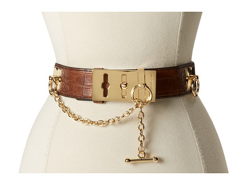 BCBGMAXAZRIA - Toggle Waist Belt (Cognac) Women
