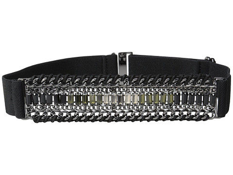 BCBGMAXAZRIA - Chain and Rhinestone Front Waist Belt (Peridot Combo) Women's Belts
