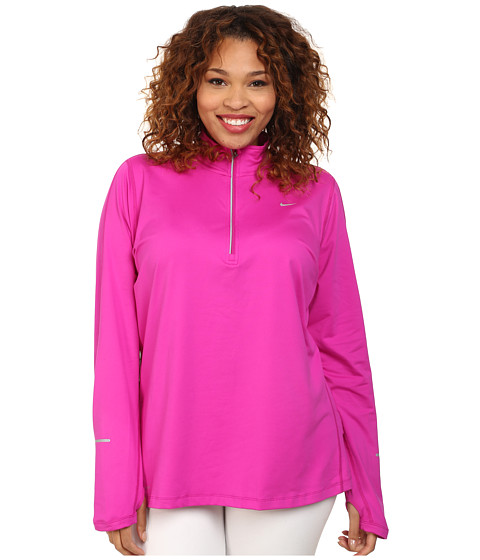 Nike - Extended Element Half-Zip (Fuchsia Flash/Reflective Silver) Women's Long Sleeve Pullover