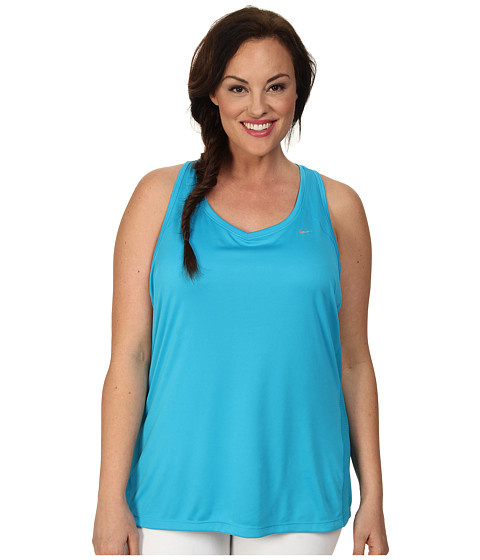 Nike - Extended Size Miler Tank (Blue Lagoon/Blue Lagoon/Blue Lagoon/Reflective Silver) Women's Sleeveless