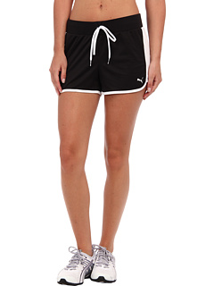 SALE! $12.99 - Save $12 on PUMA Knit Short (Black White) Apparel - 48.04% OFF $25.00