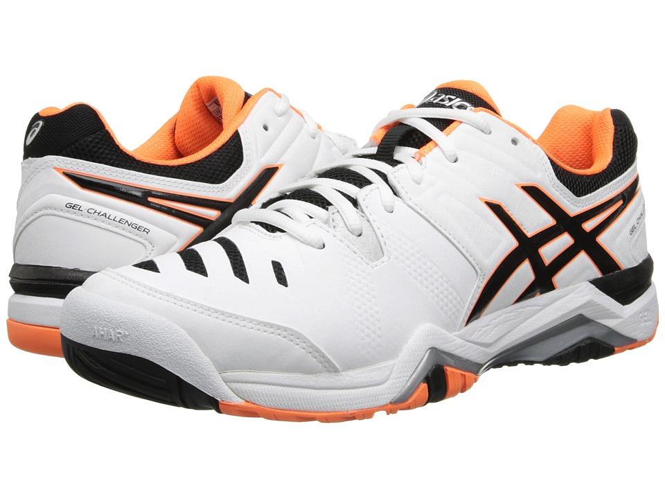 ASICS - GEL-Challenger 10 (White/Onyx/Flash Orange) Men's Tennis Shoes