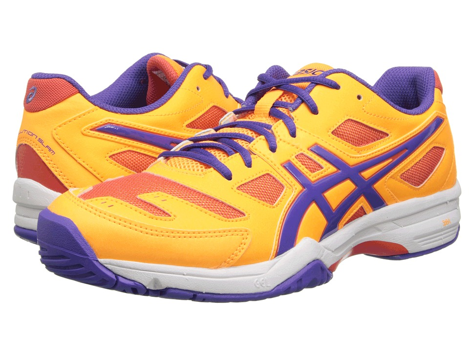 ASICS - Gel-Solution Slam 2 (Mango/Lavender/Hot Coral) Women's Tennis Shoes