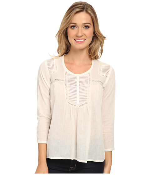 Volcom - Black Hole L/S Top (Cream) Women's Blouse