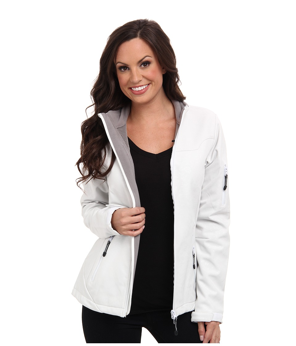 Roper - Floral Softshell w/ Grey Fleece Jacket (White) Women's Coat
