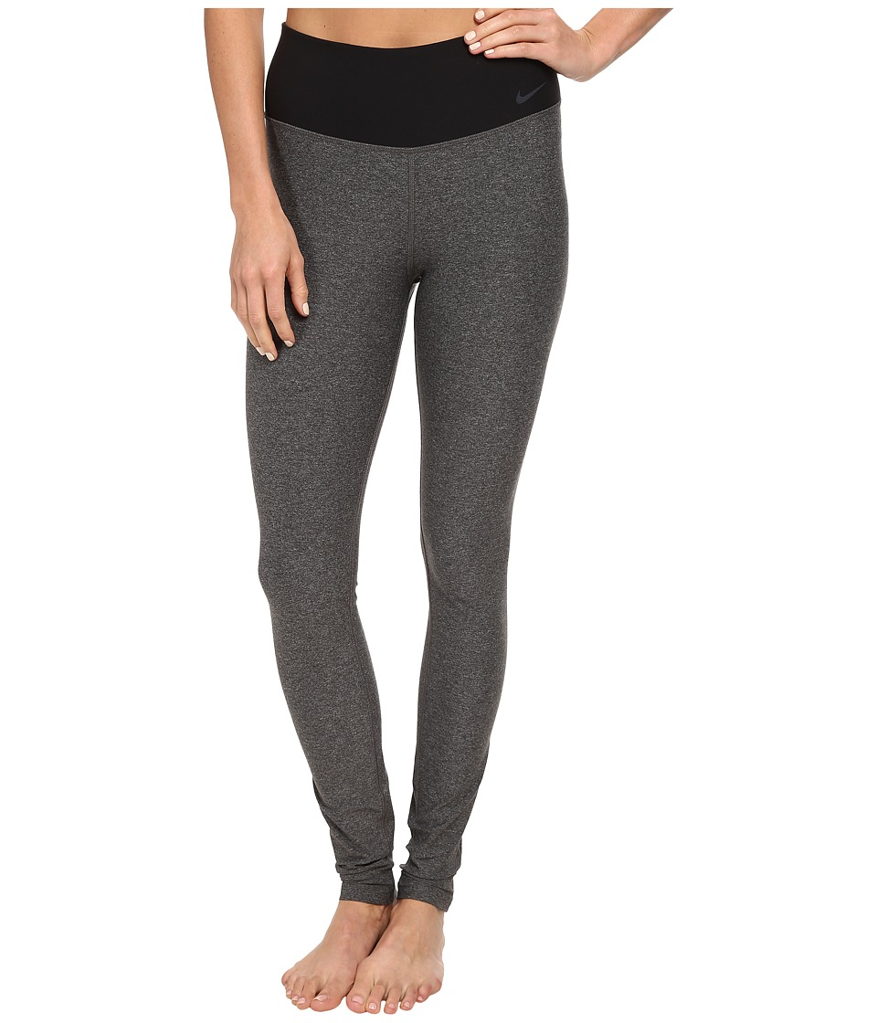 Nike - Legend 2.0 Tight Poly Pant (Charcoal Heather/Black/Cool Grey) Women's Workout