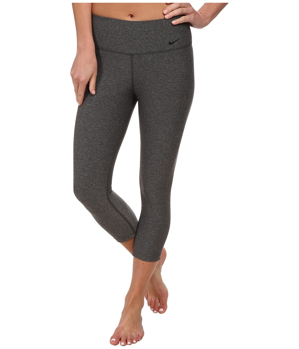 Nike - Legend 2.0 Tight Poly Capri (Charcoal Heather/Black) Women's Capri