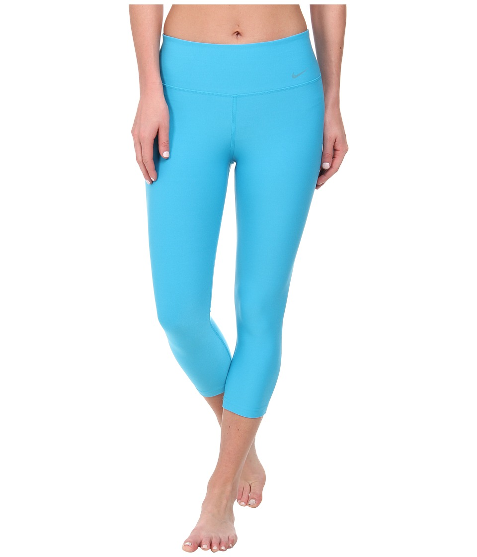 Nike - Legend 2.0 Tight Poly Capri (Blue Lagoon/Cool Grey) Women's Capri