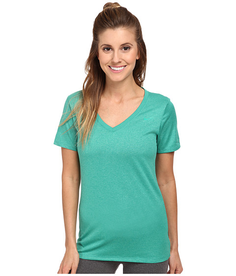Nike - V-Neck Legend Short-Sleeve Tee 2.0 (Emerald Green/Emerald Green) Women's T Shirt