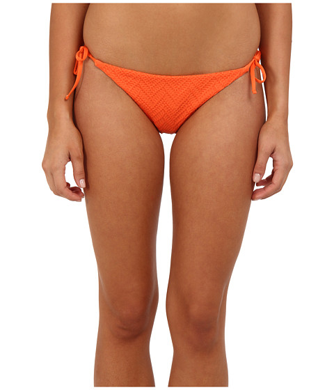 Volcom - Wild Night Tie Side Full Bottom (Orange) Women's Swimwear
