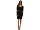 Belted Dress with Lace Trim w/ Leather belt