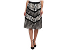 Full Skirt w/ Graphic Snake Skin Animal Spots Motif