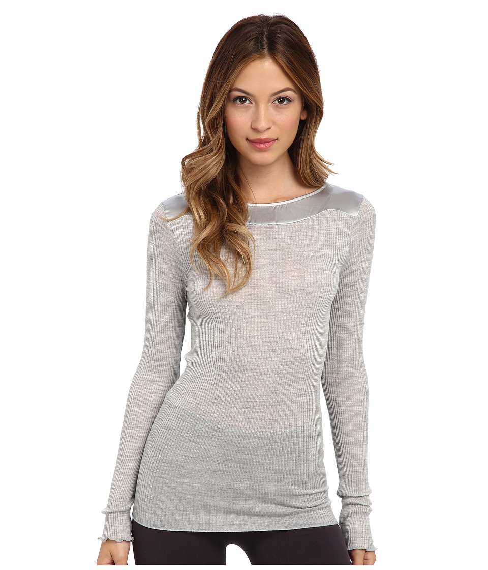 Hanro - West Village Long-Sleeve Shirt (Light Melange) Women's Clothing