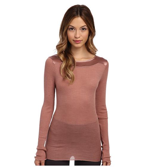 Hanro - West Village Long-Sleeve Shirt (Coffee) Women
