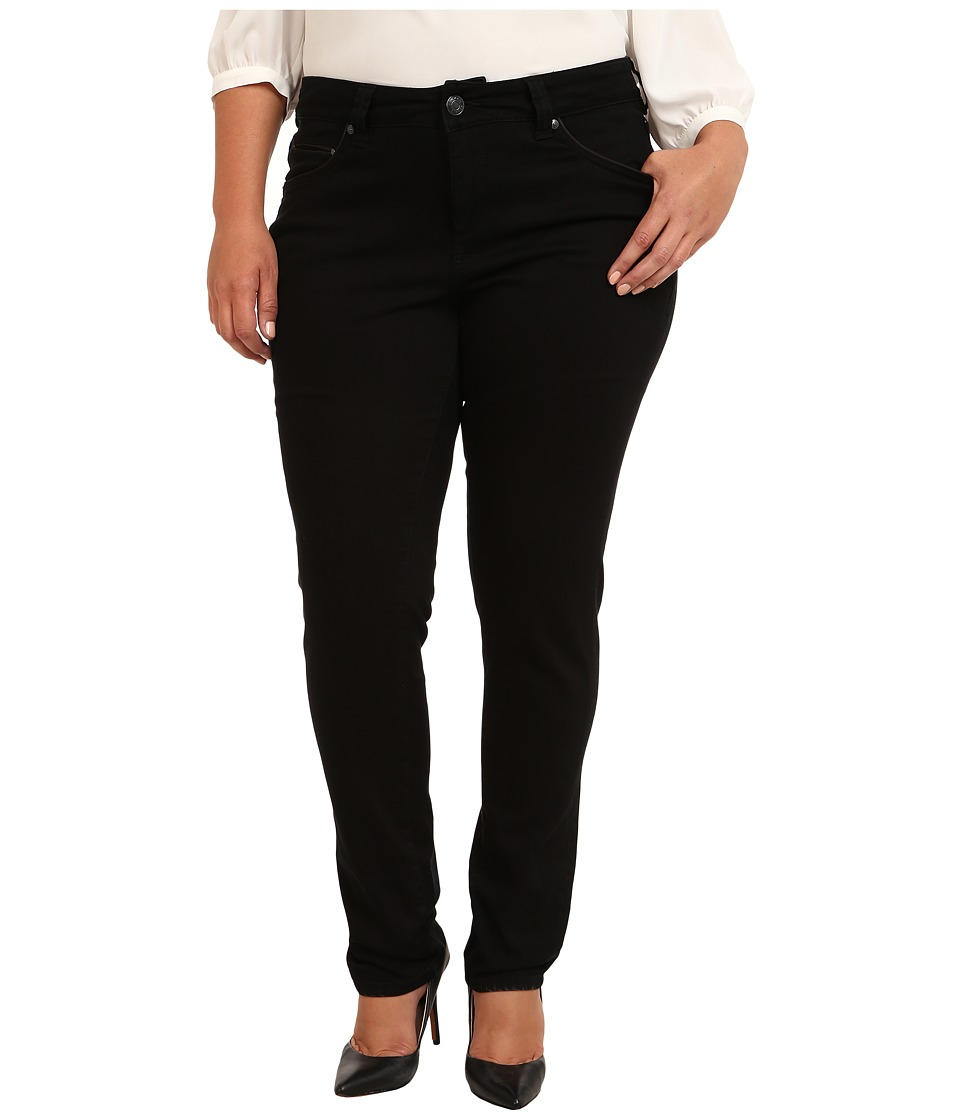 Jag Jeans Plus Size - Plus Size Piper Narrow in Black on Black (Black On Black) Women