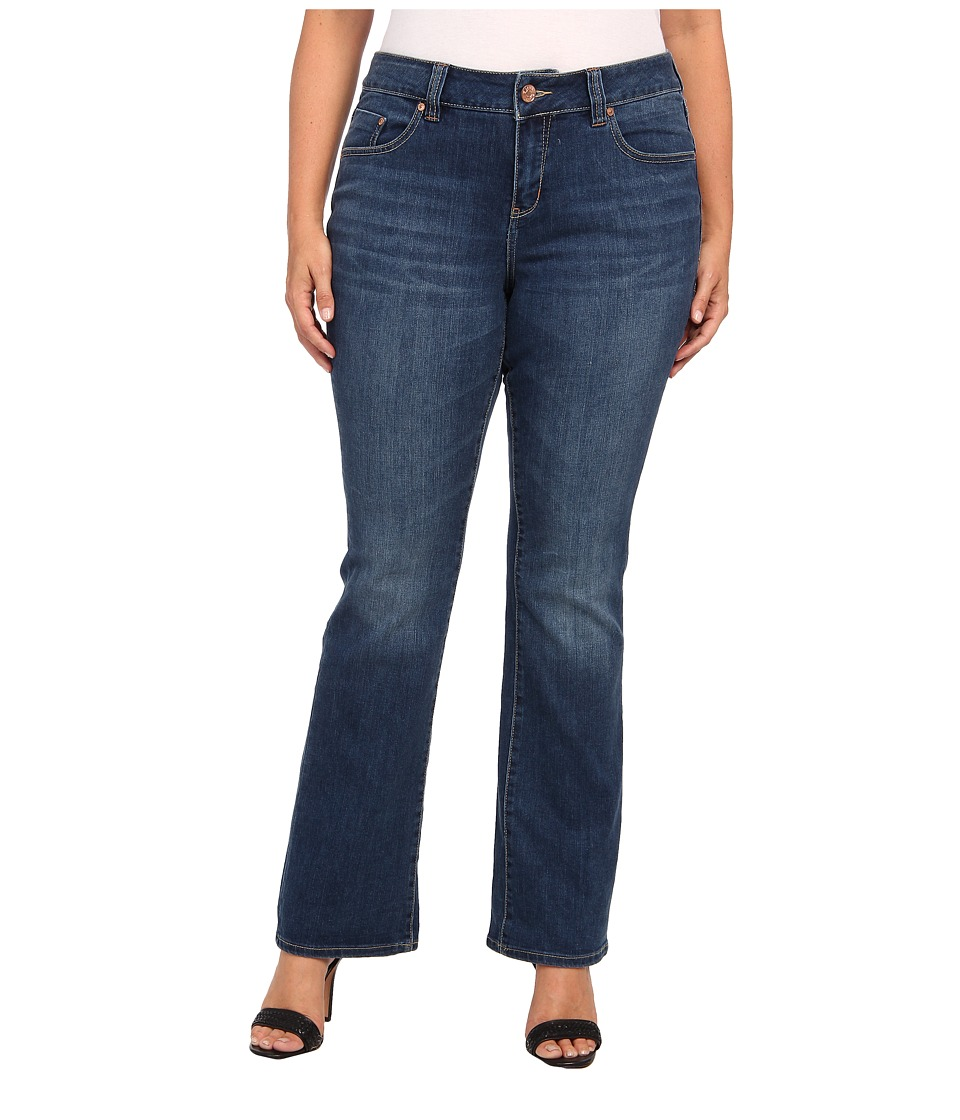 Jag Jeans Plus Size - Plus Size Foster Mid Boot in Indigo Aged (Indigo Aged) Women's Jeans plus size,  plus size fashion plus size appare