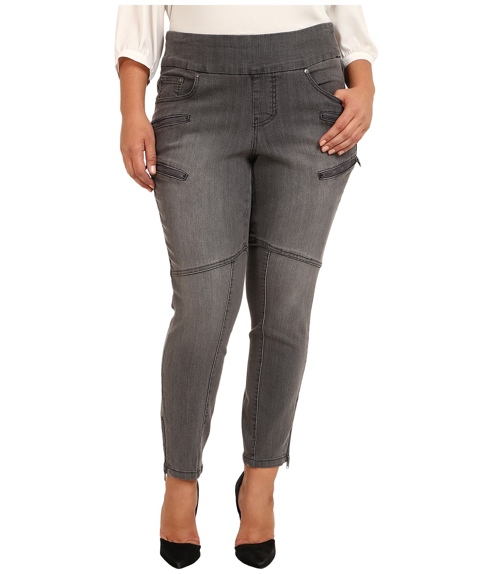 Jag Jeans Plus Size - Plus Size Zipper Stef Pull-On Skinny in Fog Wash (Fog Wash) Women