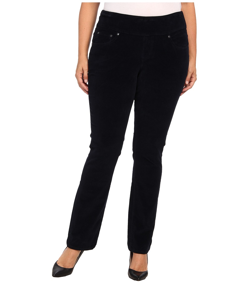 Jag Jeans Plus Size - Plus Size Malia Pull-On Slim Pinwale Cord (Black Iris) Women's Jeans plus size,  plus size fashion plus size appare