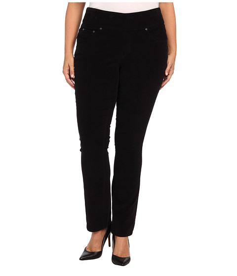 Jag Jeans Plus Size - Plus Size Malia Pull-On Slim Pinwale Cord (Black) Women