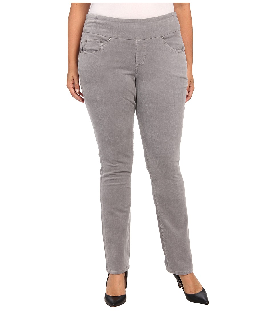 Jag Jeans Plus Size - Plus Size Malia Pull-On Slim Pinwale Cord (Feather) Women's Jeans