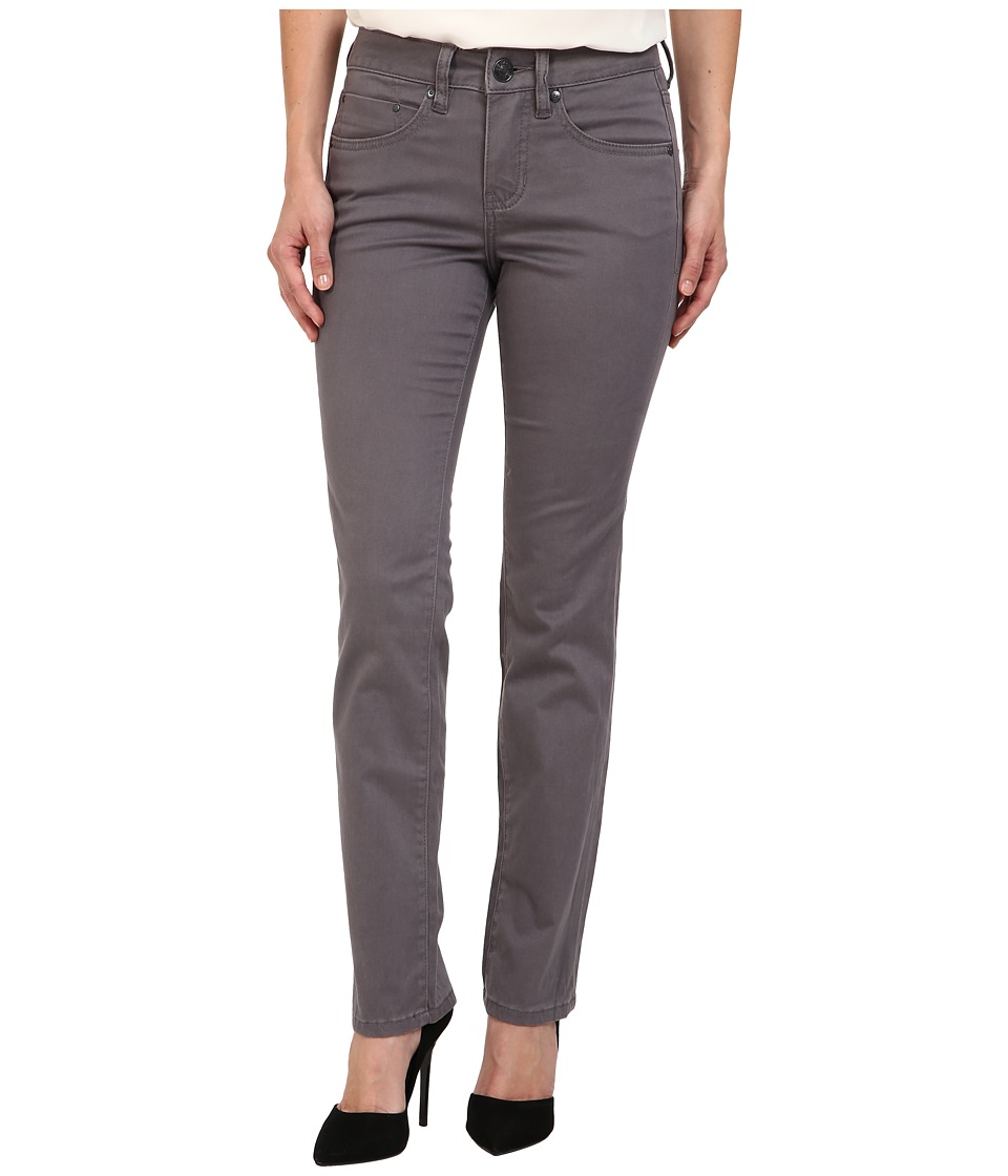 Jag Jeans Petite - Petite Rudy Mid Straight Sueded Sateen (Grey Stone) Women