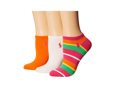 LAUREN by Ralph Lauren - Yacht Stripe Ped 3 Pack (Assorted 2) Women's Low Cut Socks Shoes
