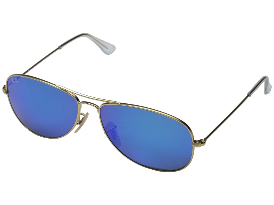 Ray-Ban - RB3362 59mm (Matte Gold/Grey Mirror Blue) Fashion Sunglasses