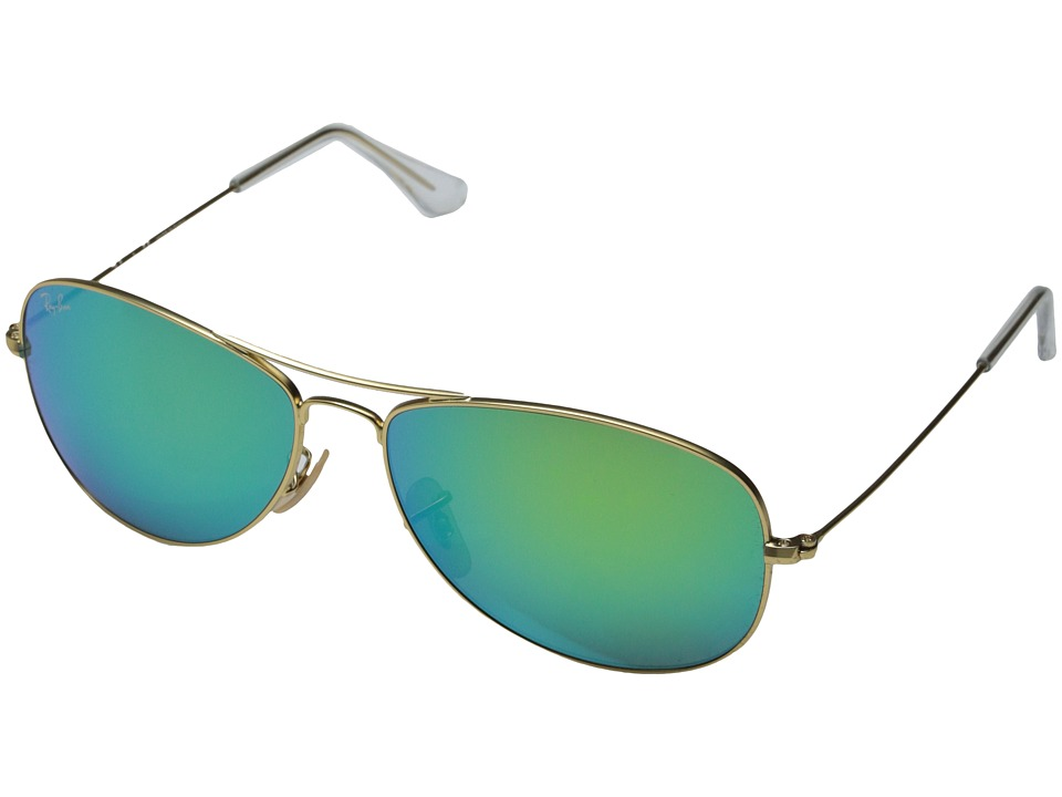 Ray-Ban - RB3362 59mm (Matte Gold/Grey Mirror Green) Fashion Sunglasses