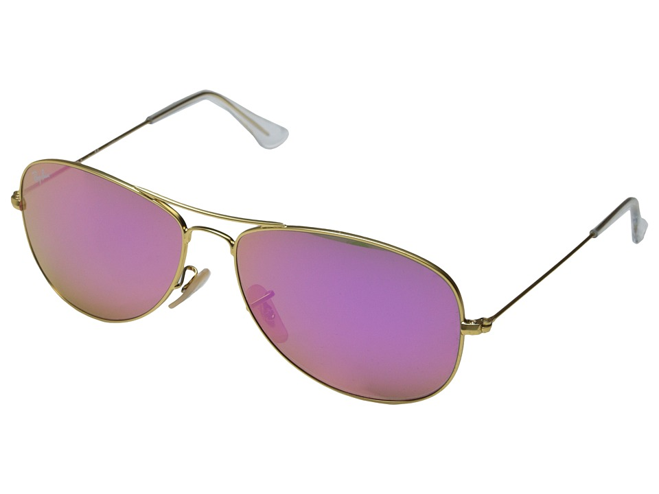 Ray-Ban - RB3362 59mm (Matte Gold/Cyclamen Mirror) Fashion Sunglasses