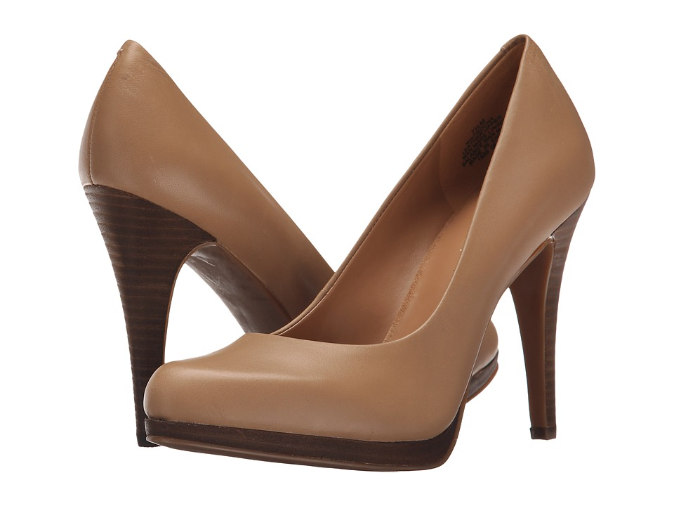 Nine West Rocha Taupe Leather High Heels