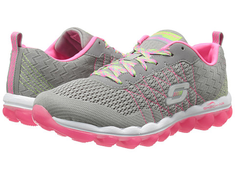 SKECHERS - Air Style Fix (Gray Pink) Women's Lace up casual Shoes