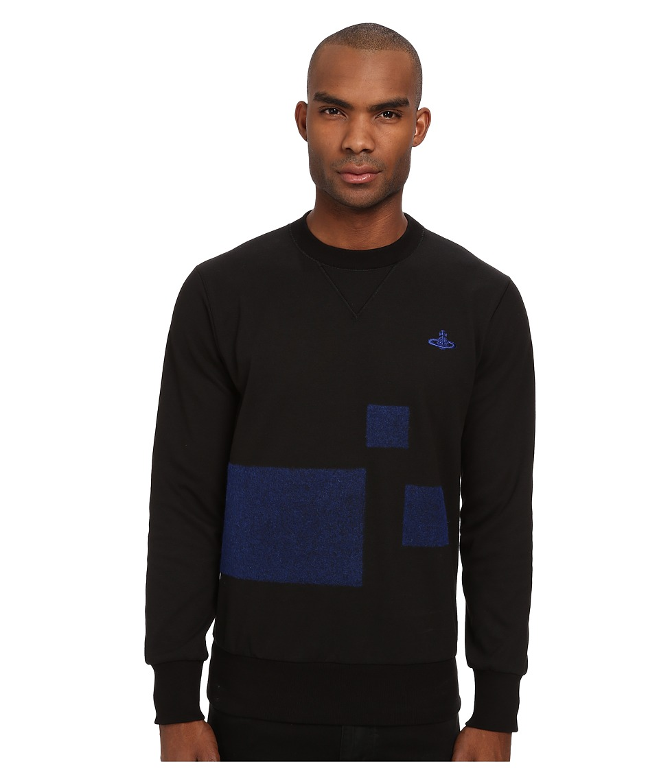 Vivienne Westwood MAN - Tech Felpa Sweatshirts (Black/Blue) Men's Sweatshirt