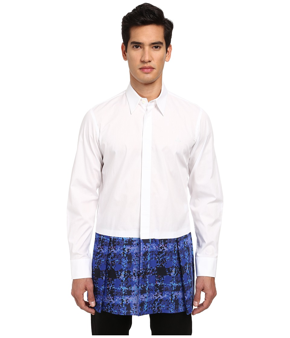 Vivienne Westwood MAN - Kilt Button Up (White) Men's Clothing
