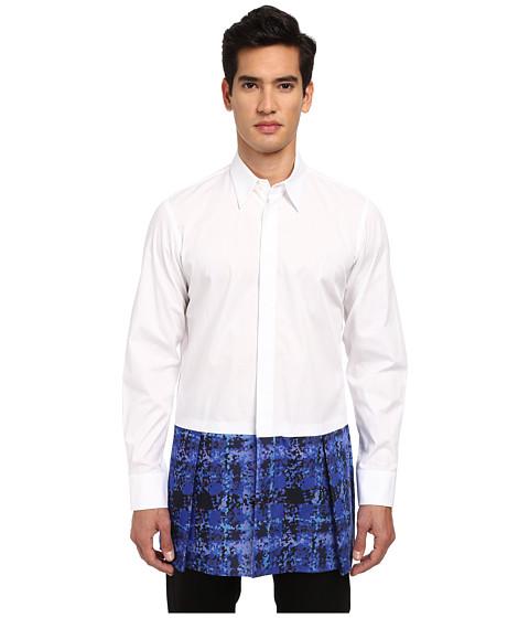 Vivienne Westwood MAN - Kilt Button Up (White) Men's Clothing