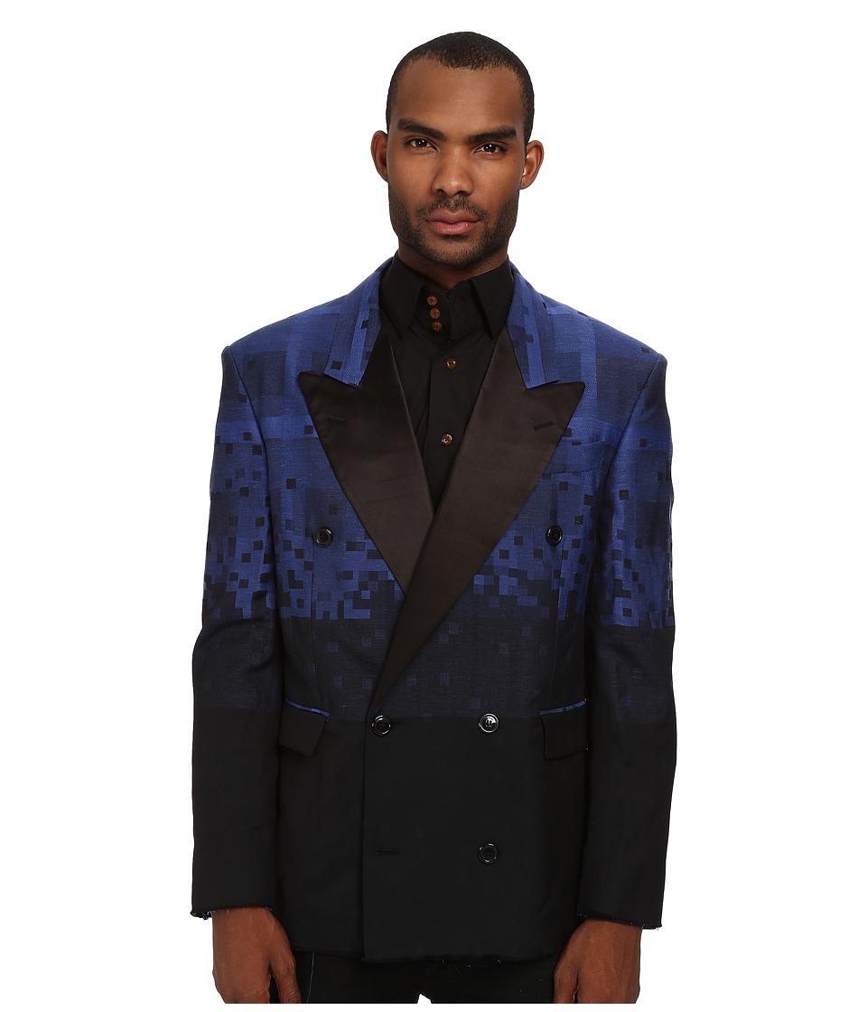Vivienne Westwood MAN - Tartans Diamonds Blazer (Black/Blue) Men's Coat