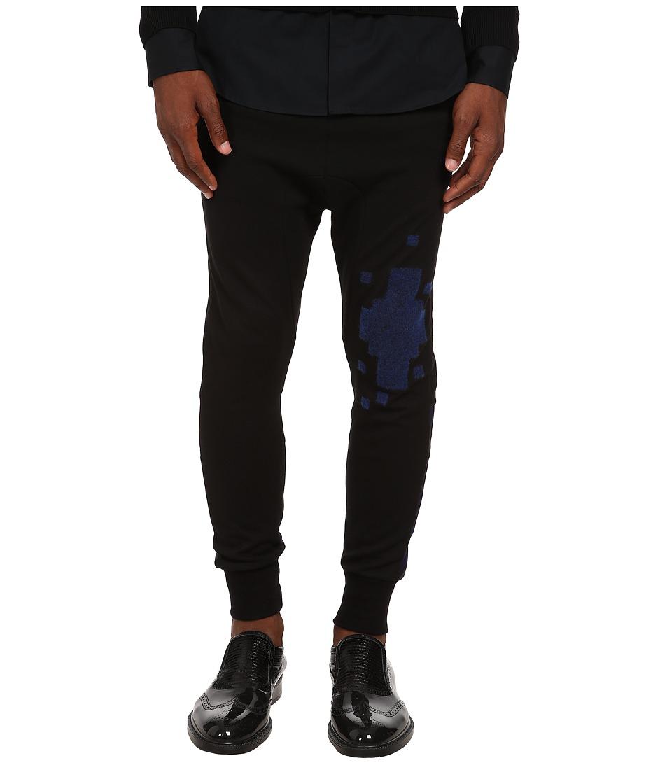 Vivienne Westwood - Tech Felpa Jogger (Black/Blue) Men's Casual Pants